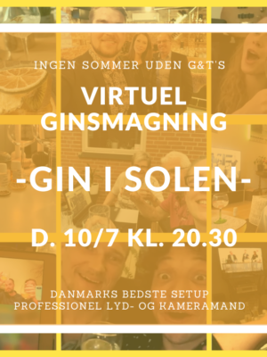 Virtuel ginsmagning - gin - god gin - foto