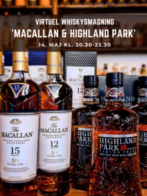 Virtuel Whiskysmagning Macallan & Highland Park - foto
