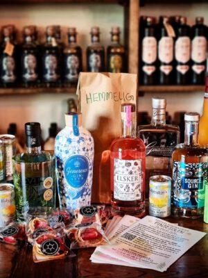 Ginpakke til virtuel ginsmagning - pinsesolen - foto
